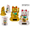 wholesale Giftware: Solar figurine cat of happiness
