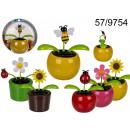 grossiste Articles Cadeaux: Figurine solaire fleur / insectes