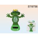Figurine Solar-Frosch trägt eine Krone