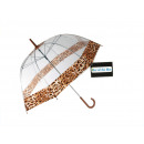 wholesale Bags & Travel accessories: Umbrella transparent leopard