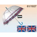 Großhandel Regenschirme: Regenschirm  transparent Großbritannien