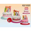Plush birthday cake