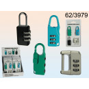 wholesale Ironmongery: Padlock code (set of 4 pieces)