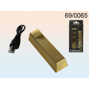 Powerbank Goldbarren - 2200 mAh