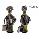 Metal wine rack - businessman