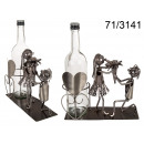 Metal wine rack - love couple