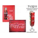 groothandel Stationery & Gifts: Een metalen plaquette Coca Cola