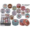 ingrosso Gioielli e conservazione: Scatola di metallo per caramelle, bigiotteria - Re