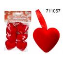 Heart pendants (6 pieces)