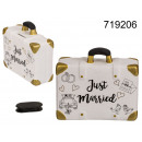wholesale Saving Boxes: Piggy bank suitcase - Just Married