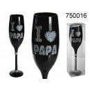 wholesale Drinking Glasses: A glass of champagne I love Papa