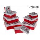 Conjunto de 8 cajas con corazón