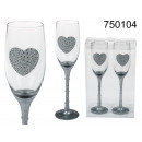 wholesale Drinking Glasses: Glasses of champagne heart