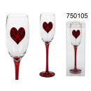 wholesale Drinking Glasses:Glass of champagne heart