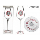 wholesale Drinking Glasses: Birthday champagne glass - 18