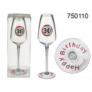 wholesale Drinking Glasses: Birthday champagne glass - 30