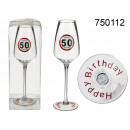 Birthday champagne glass - 50