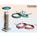 grossiste Bijoux & Montres: Bracelet en coton avec fil d'argent