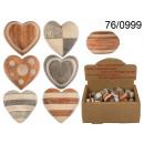 Wooden decorative heart