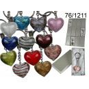 grossiste Porte-cles:pendentif coeur verre