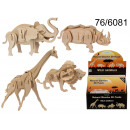 wholesale Wooden Toys: 3D wooden puzzle - wild animals