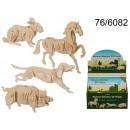 3D wooden puzzle - animals