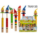 Wooden whistle clown