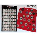 Großhandel Fanartikel & Souvenirs:Buttons Kein Faschismus