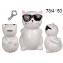 mayorista Caja fuerte: Hucha de ceramica gato con gafas XL