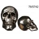Silver skull decoration XXL