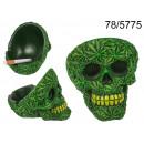 Cendrier crâne - feuille de marijuana