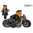 Figur eines Motorradfahrers