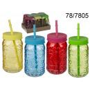 Mug jar tiki with straw II