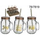 Mug jar with straw - 450 ml
