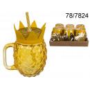 wholesale Houshold & Kitchen: Mug jar with  pineapple straw - 500 ml