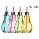 wholesale Houshold & Kitchen: Cup light bulb with a straw 175 ml