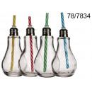 Großhandel Leuchtmittel: Cup Glühbirne mit  einem Strohhalm 250 ml