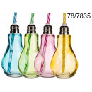 Cup light bulb with a straw 250 ml