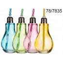 grossiste Ampoules: ampoule Coupe avec une paille 250 ml