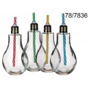 wholesale Houshold & Kitchen: Cup light bulb with a straw 400 ml