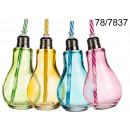 wholesale Home & Living: Cup light bulb with a straw 400 ml