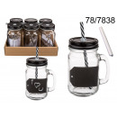wholesale Houshold & Kitchen: Mug memo jar with a straw