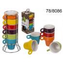 Set di tazze in  ceramica per Espresso