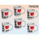 Mug I love - 12 pieces