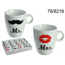 wholesale Houshold & Kitchen: Mugs Mr. and Mrs. - 12 pieces