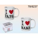 Mug I love Mama / Papa