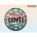 groothandel Home & Living:Metalen wandklok Coffee