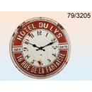 grossiste Horloges & Reveils:mur Métal horloge Du Lys