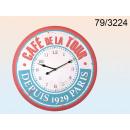 Clock wooden XXL - Cafe de la Tour