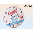 Clock wooden XXL - Coffee